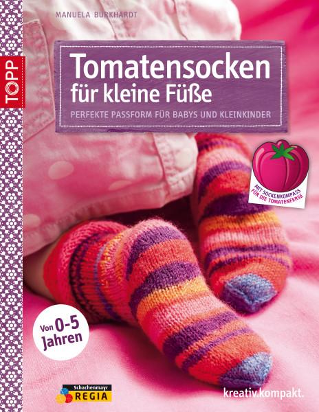 Tomatensocken für kleine Füße