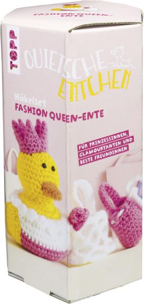 Quietsche-Entchen Häkelset Fashion Queen