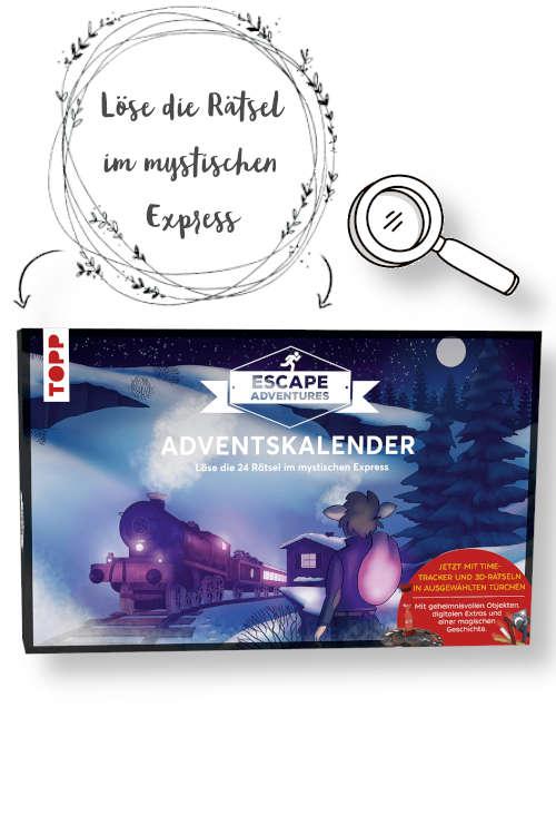 escape adventures adventskalender der Mystische Express Produktbild