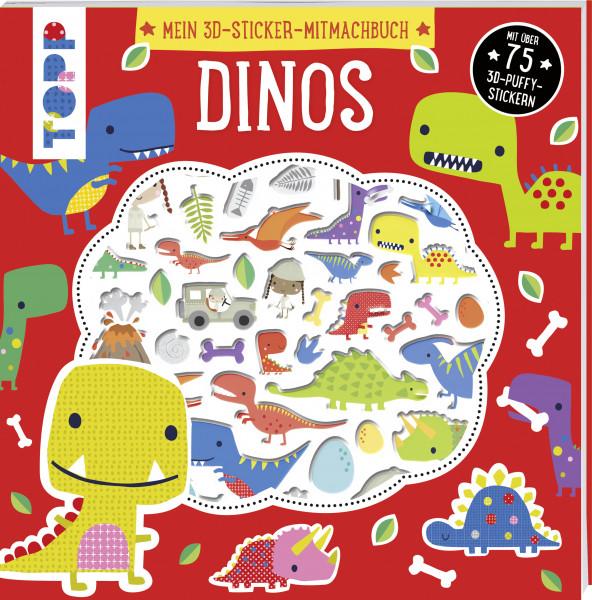 Mein 3D-Sticker-Mitmachbuch: Dinos