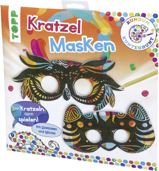 Rundum Kunterbunt Kratzel-Masken-Set
