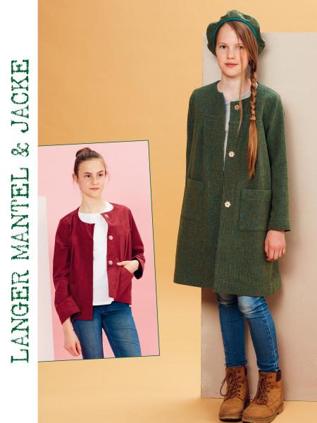 Langer Mantel und Jacke (nur Pattarina-Schnitt)