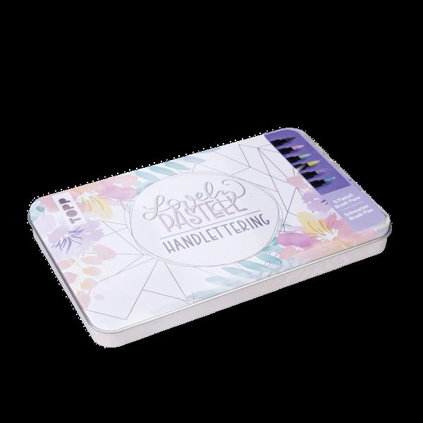 Lovely Pastell Handlettering Brush Pens mit Designdose