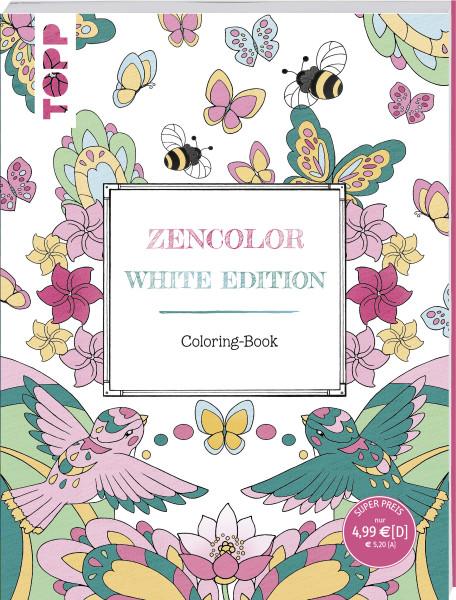 Zencolor. White Edition. Coloring-Book