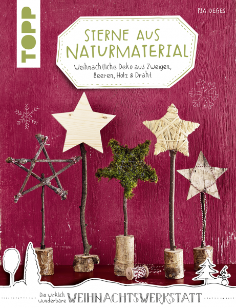 Sterne aus Naturmaterial