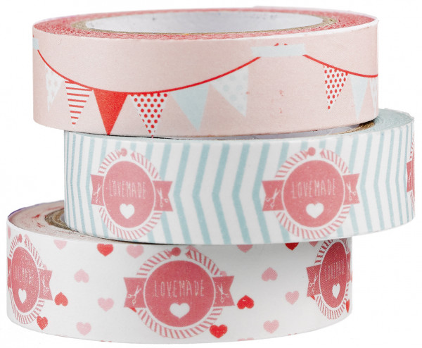 Lovemade Masking Tape 3er Pack