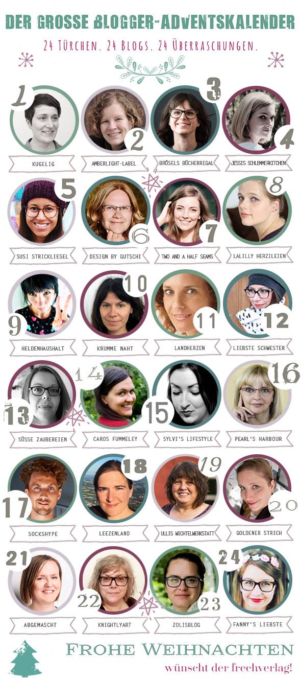 Der große Blogger-Adventskalender 2017 vom frechverlag
