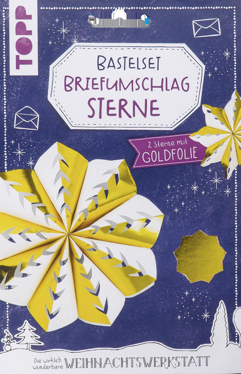 Weihnachtsbasteln Sterne Aus Goldpapier.Briefumschlag Sterne Bastelset Mit Goldfolie