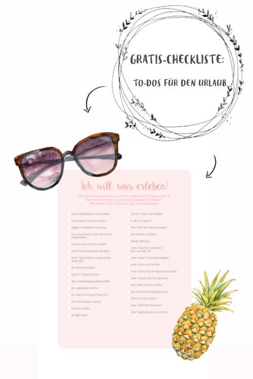 Checkliste Sommerurlaub zum herunterladen