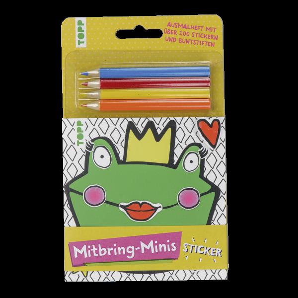 Mitbring-Minis Ausmalheft mit Stickern und Buntstiften