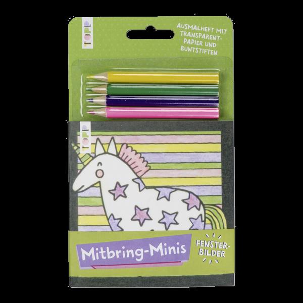 Mitbring-Minis Fensterbilder-Ausmalheft mit Buntstiften
