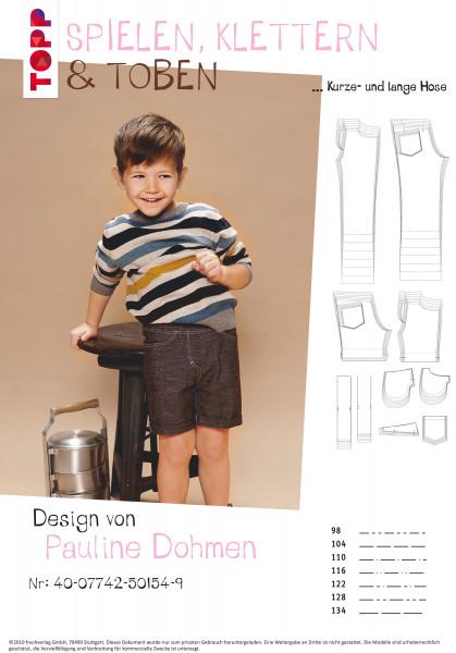 Kurze Hose und lange Hose im Jeanslook (nur Schnittmuster, ohne Aleitung, für Fortgeschrittene)