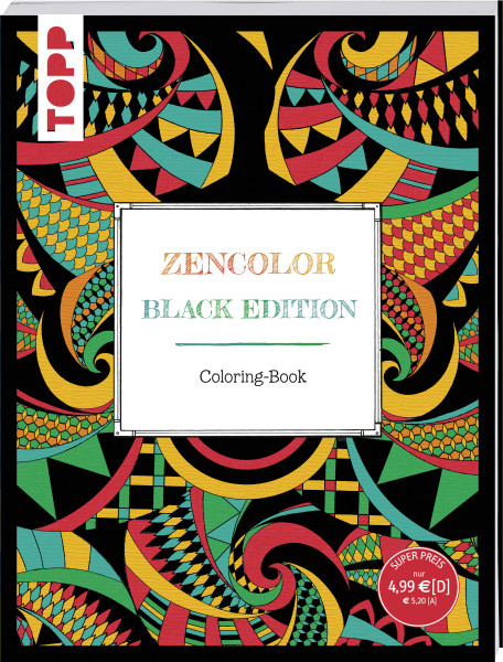 Zencolor. Black Edition. Coloring-Book