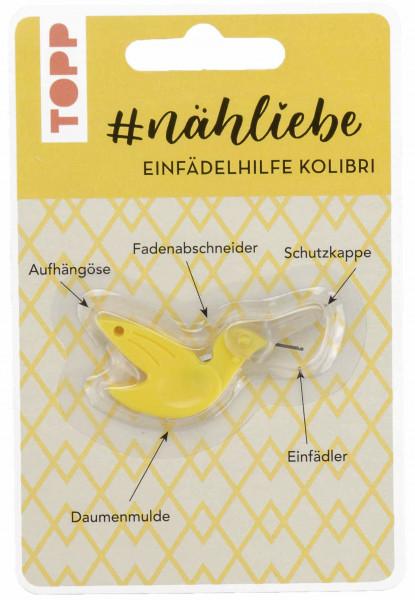 #nähliebe Einfädelhilfe Kolibri Gelb