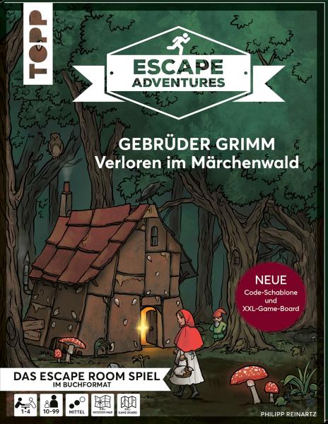 Escape Adventures – Gebrüder Grimm: Verloren im Märchenwald (NEUE Codeschablone für mehr Rätselspaß)
