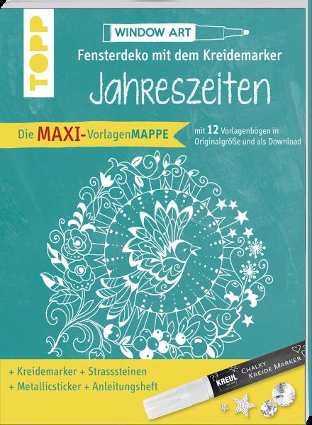 Maxi-Vorlagenmappe Fensterdeko mit dem Kreidemarker - Jahreszeiten