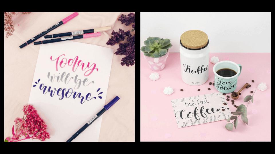 Unterschied Handlettering und Kalligrafie Bilderbanner Handlettering