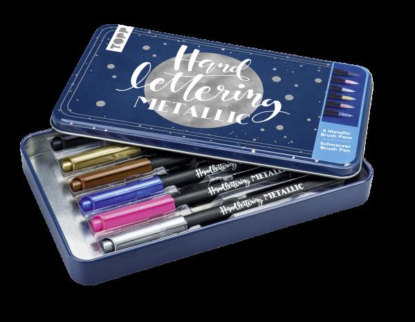 Handlettering Metallic Brush Pens