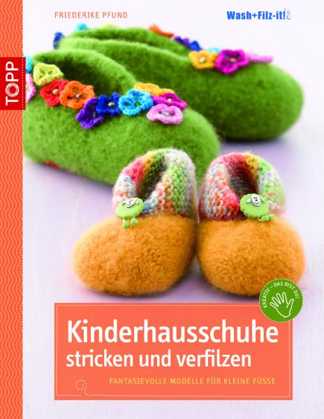 Kinderhausschuhe stricken und verfilzen