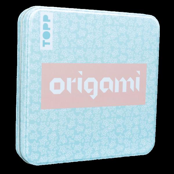 Origami Faltblätter mit Designdose (Floral)