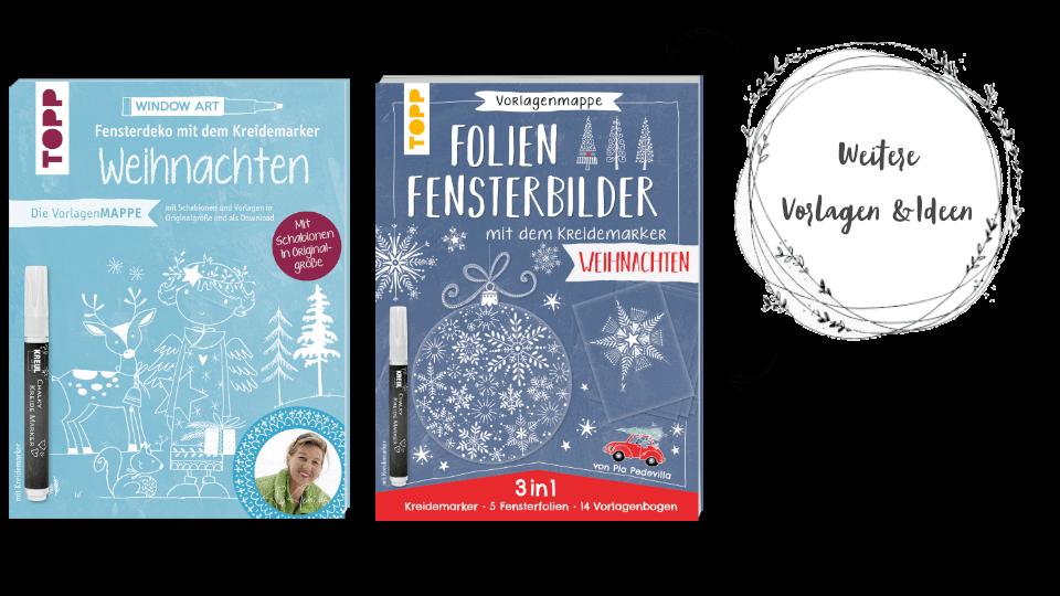 Kreidemarker Vorlagen zu Weihnachten Vorlagenmappen Buchempfehlungen