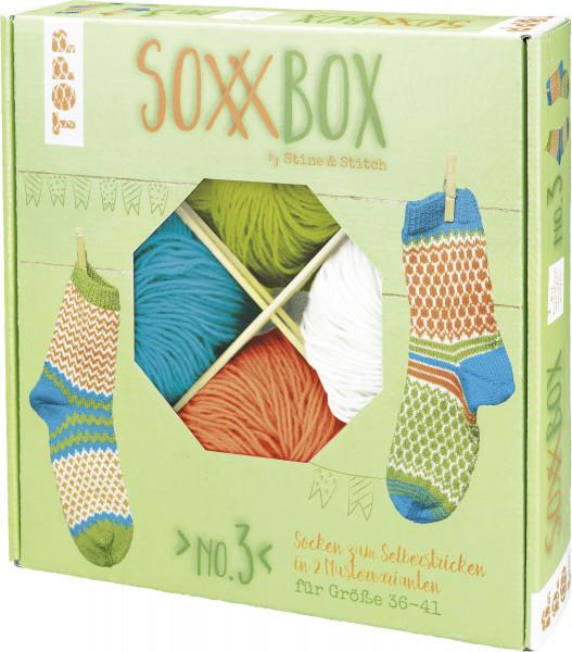 SoxxBox No. 3 - Orange/ Türkis/ Grün/ Weiß