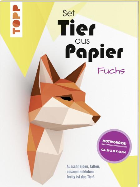 Tier aus Papier (Bastel-Set) - Fuchs