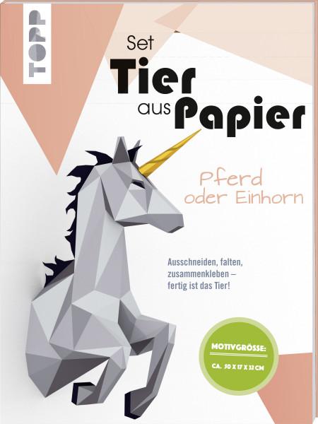 Tier aus Papier (Bastel-Set) - Pferd oder Einhorn