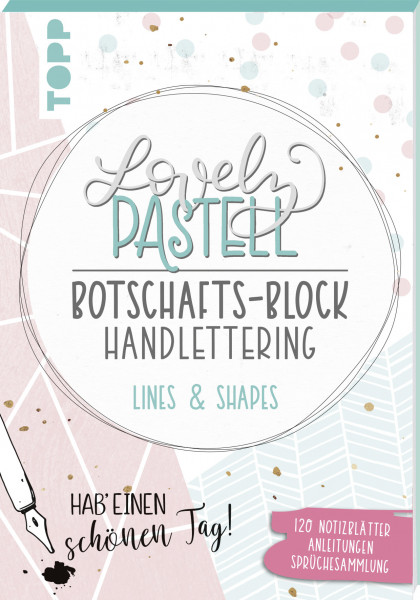 Lovely Pastell Handlettering Botschafts-Block Lines & Shapes