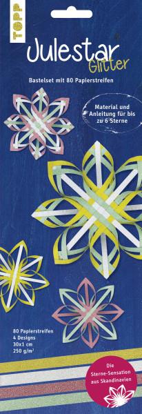 Julestar Papierstreifen-Set Glitter