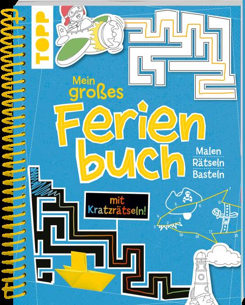 Mein großes Ferienbuch mit Kratzrätseln in Blau!