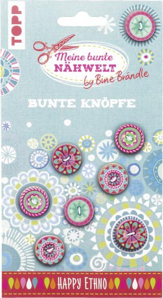 Bine Brändle Bunte Knöpfe Happy Ethno