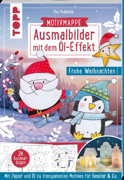 Ausmalbilder mit dem Öl-Effekt - Frohe Weihnachten
