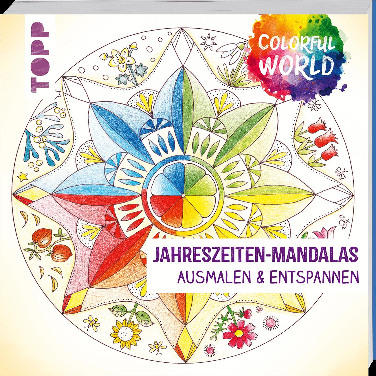 colorful world  jahreszeitenmandalas  ausmalbilder von topp