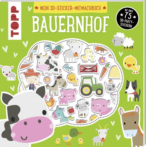 Mein 3D-Sticker-Mitmachbuch: Bauernhof