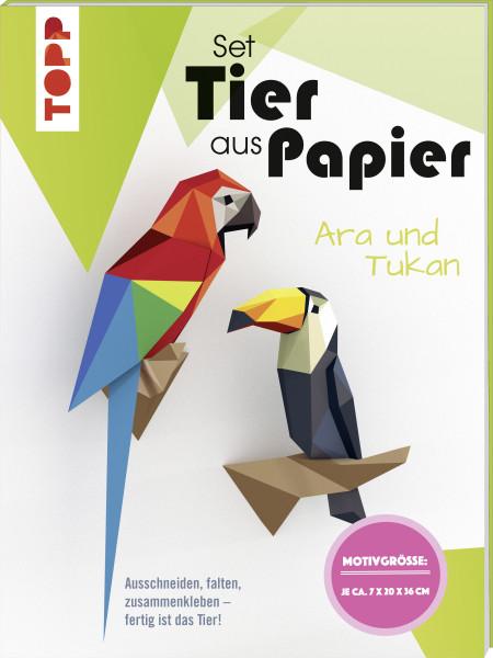 Tier aus Papier (Bastel-Set) - Tukan & Ara