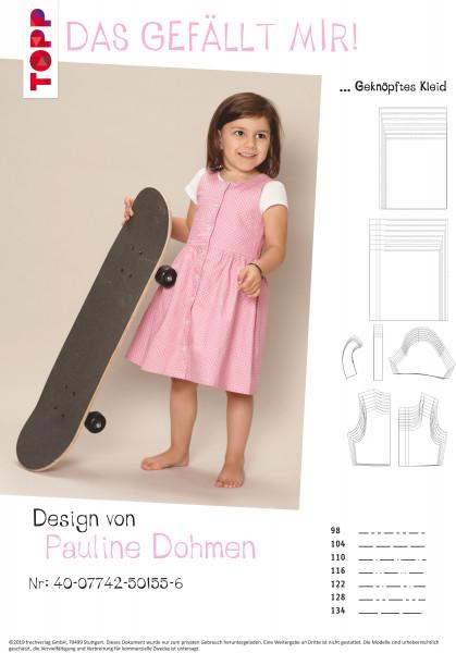 Geknöpftes Kleid und Kleid mit Bubikragen (nur Schnittmuster, ohne Anleitung, für Fortgeschrittene/E