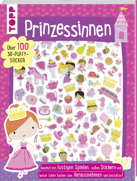 3D-Sticker- und Rätselbuch: Prinzessinnen