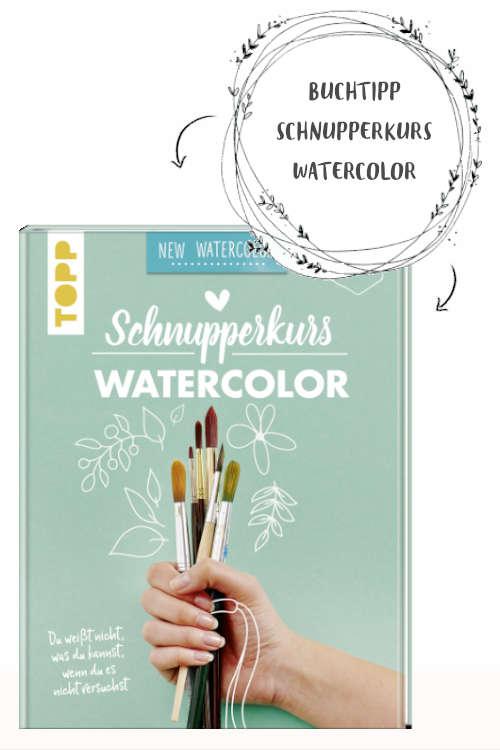Watercolor Eis malen Anleitung Buchtipp für noch mehr Inspiration