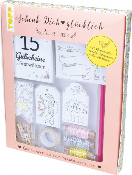 Schenk' Dich glücklich Geschenkedeko-Set Alles Liebe