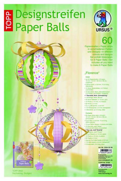 Designstreifen Paper Balls Florence