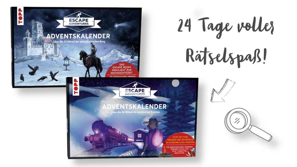 escape adventures adventskalender beide Rätselkalender