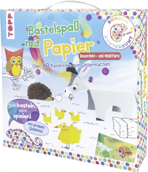 Rundum Kunterbunt Bastelspaß mit Papier Bauernhof- und Waldtiere